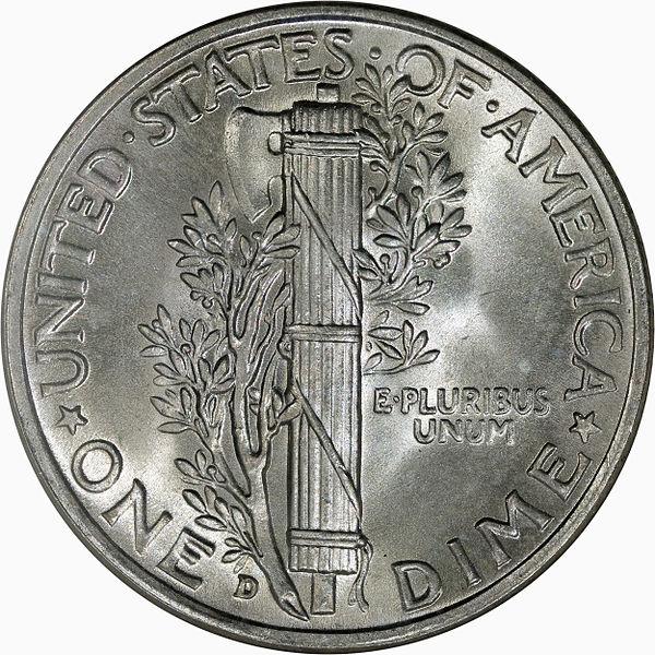 1942-S AU MERCURY DIME SAN FRANCISCO MINT ALMOST UNCIRCULATED 90/% SILVER COIN